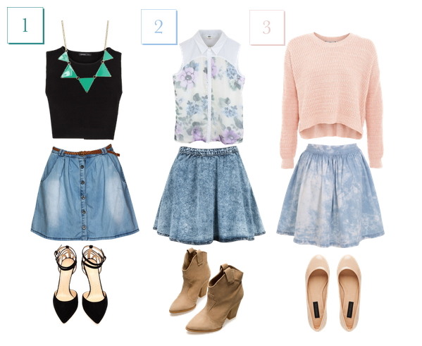 What to wear with a denim skirt 2013 – Fashionable skirts 2017 ...